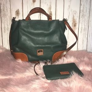 DOONEY & BURKE BRENNA SATCHEL WITH MATCHING POUCH